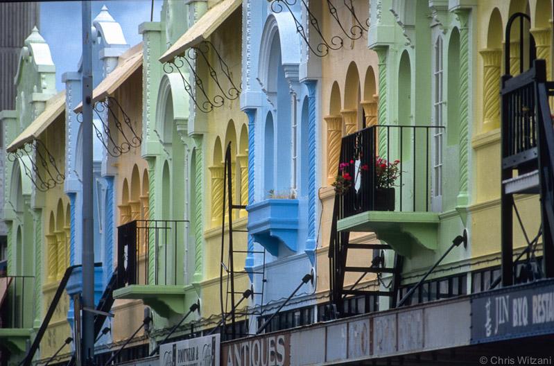 Farbige Fassaden in Christchurch