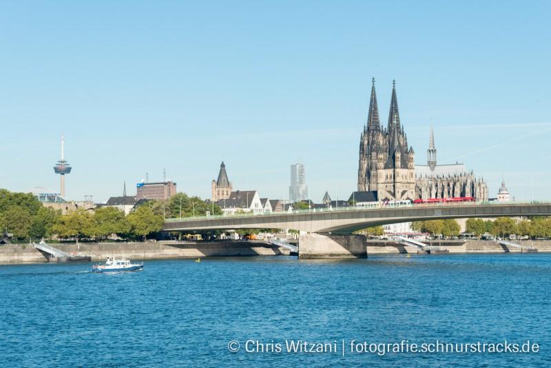 Kölnpanorama mit Deutzer Brücke #659