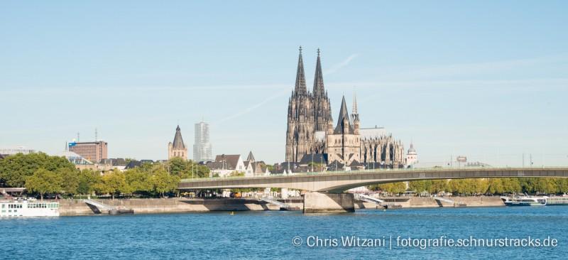 Kölnpanorama mit Deutzer Brücke #676