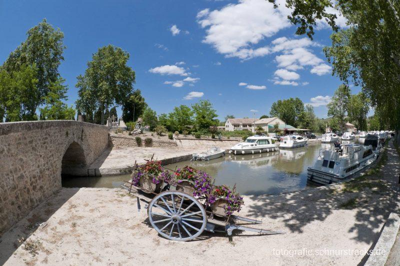 Hausboot Anlegestelle Capestang am Canal du Midi #279