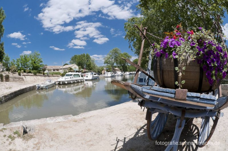 Hausboot Anlegestelle Capestang am Canal du Midi #282
