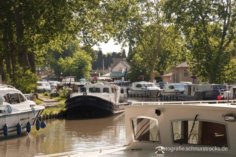 Hausboot Anlegestelle Capestang am Canal du Midi #668