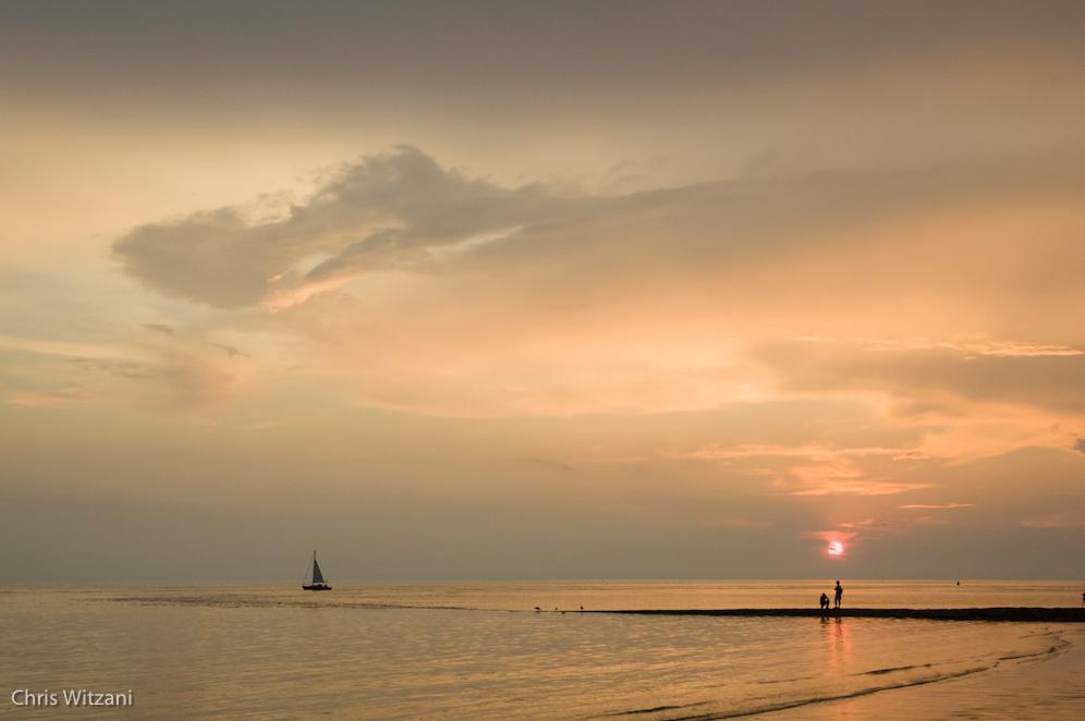 Weststrand Norderney Sonnenuntergang #115