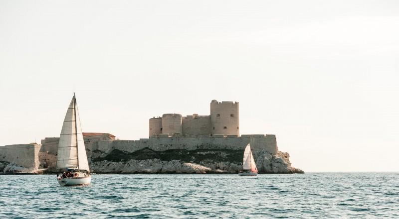 Chateau d'If mit Segelbooten #3027