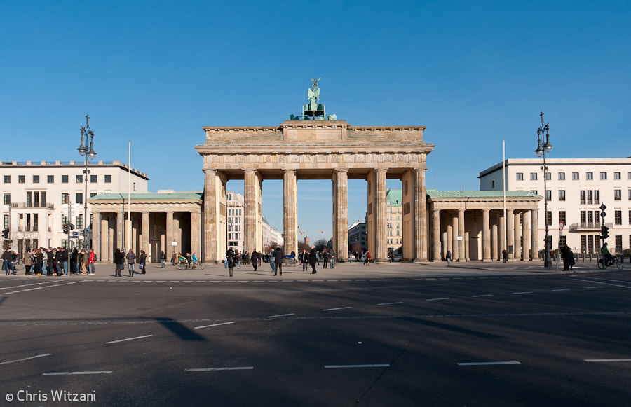 Brandenburger Tor Rückseite #9588 Regierungsviertel