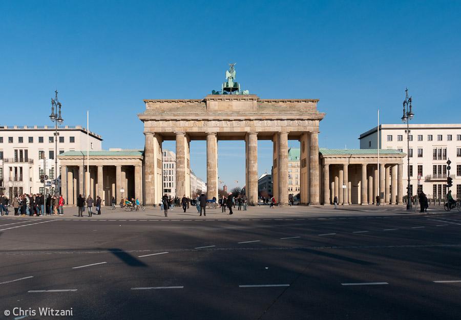 Brandenburger Tor Rückseite Regierungsviertel