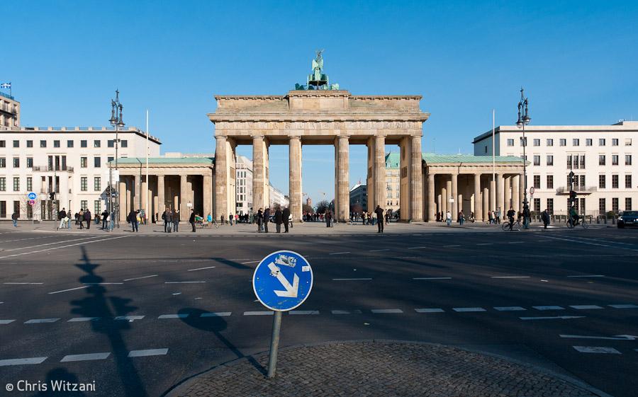 Brandenburger Tor Rückseite #9590 Regierungsviertel