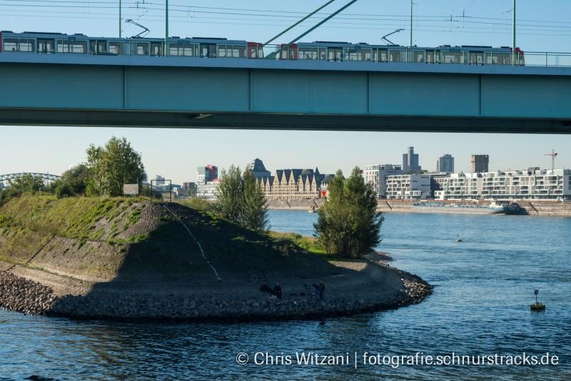 Severinsbrücke und Hafeneinfahrt #663