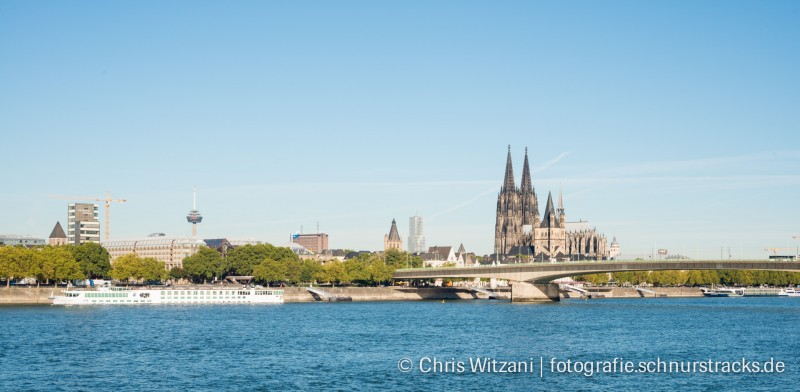 Kölnpanorama mit Deutzer Brücke #674
