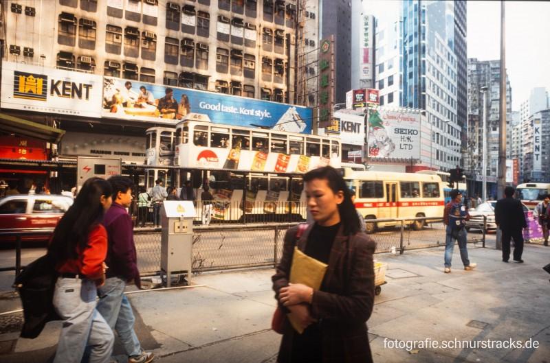 Hongkong Strassenszene 1992