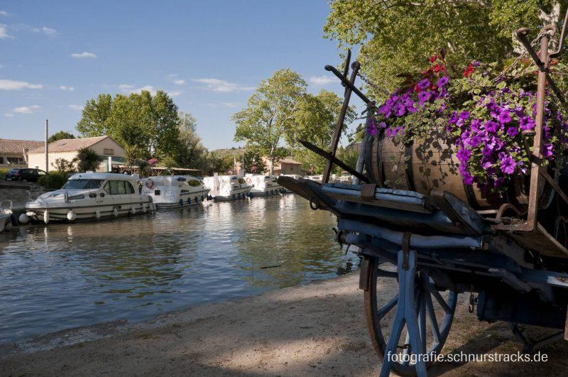 Hausboot Anlegestelle Capestang am Canal du Midi #661