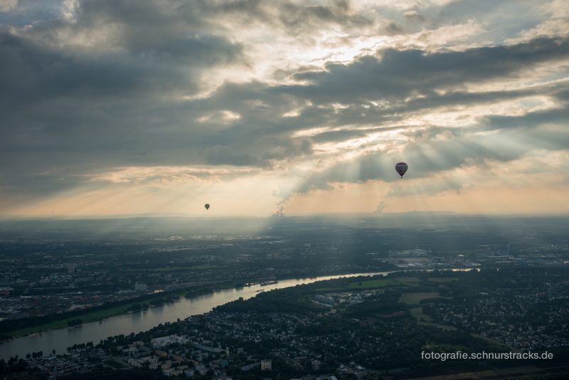 Ballon fahren über Köln