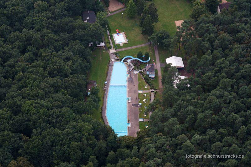 Luftaufnahme Waldbad Dünnwald von oben #8358
