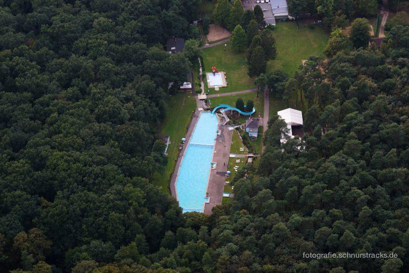 Luftaufnahme Waldbad Dünnwald von oben #8359