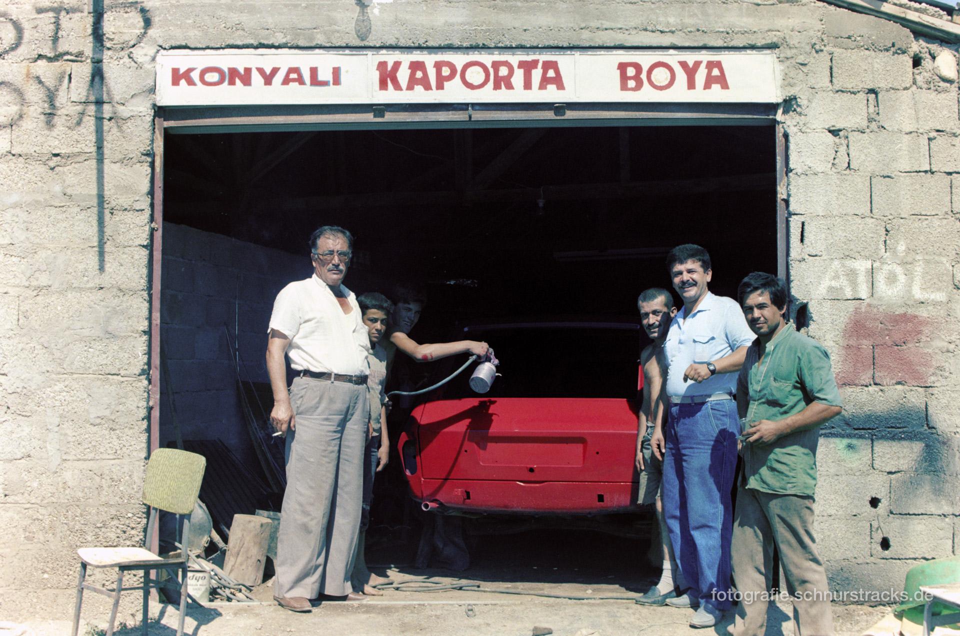 Autolackiererei – Türkei 1988