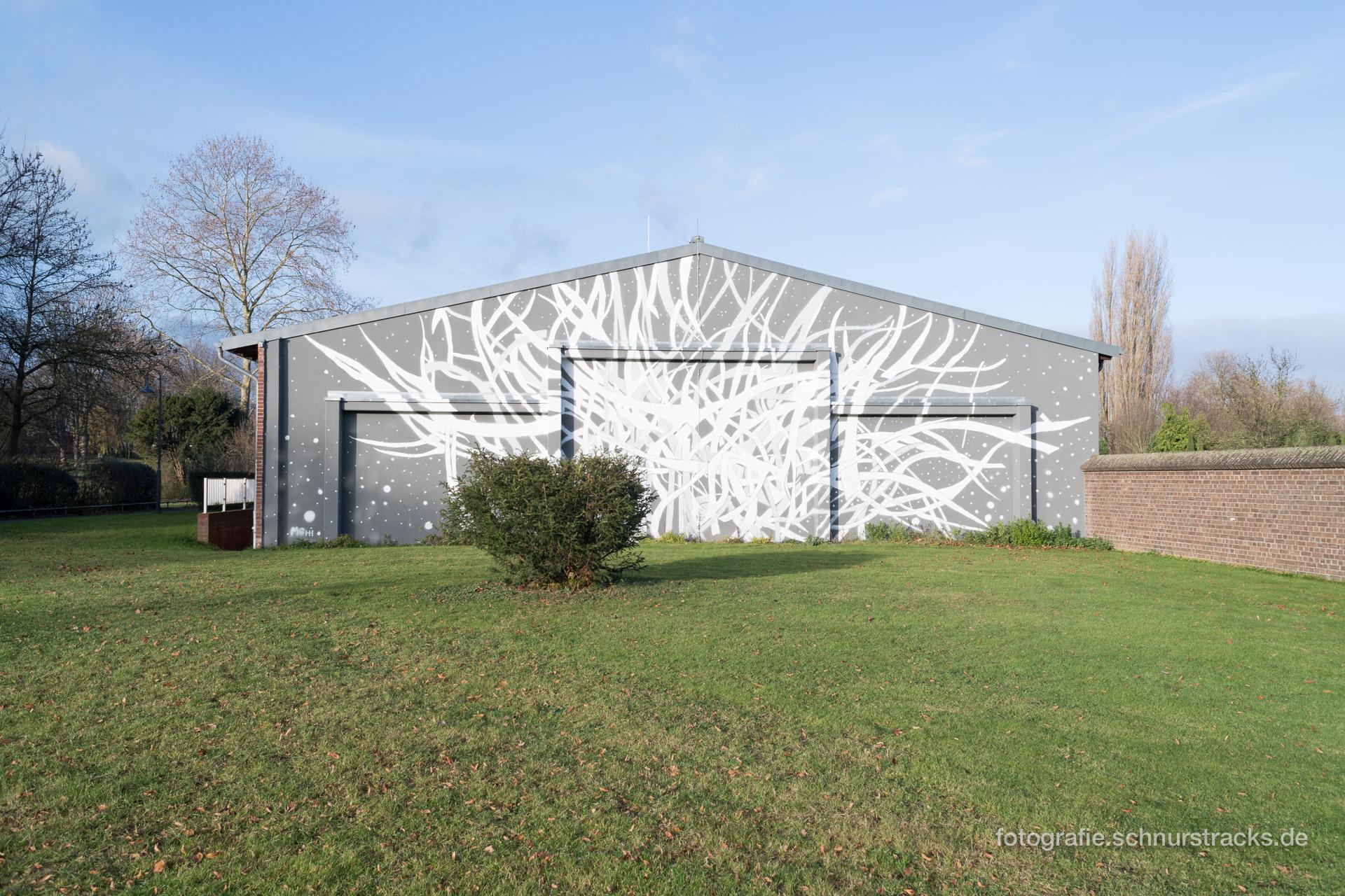 Fassadenmalerei im Abteipark Brauweiler