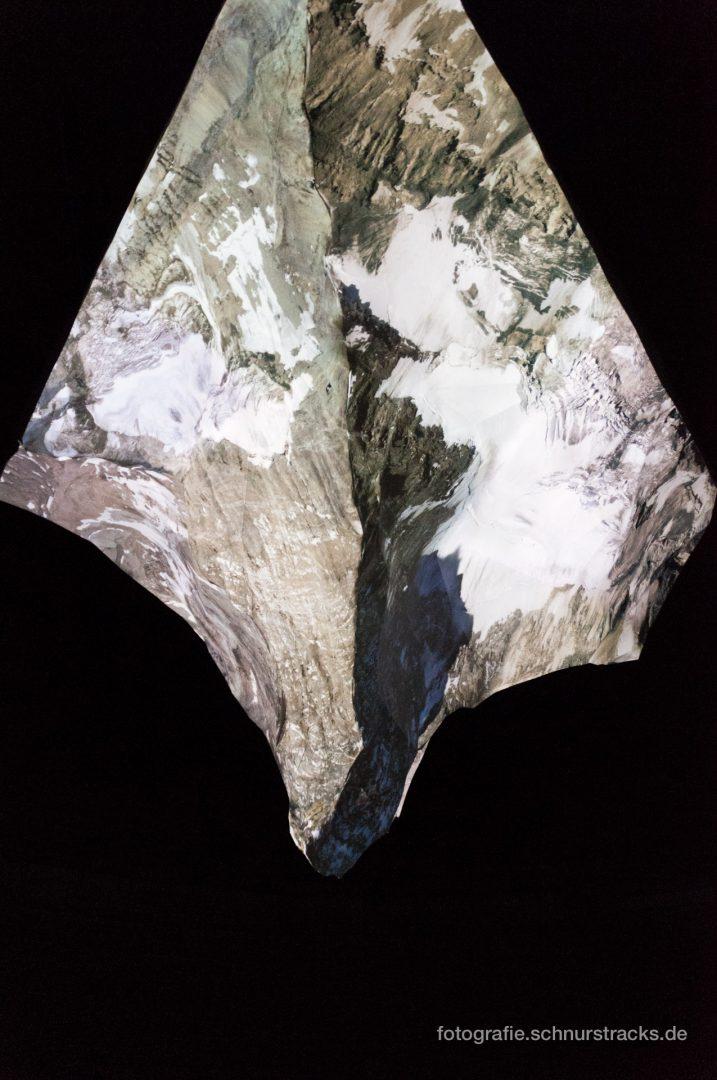 """Projektion auf das Matterhorn-Modell im Gasometer """"Der Berg ruft"""" #1004"""