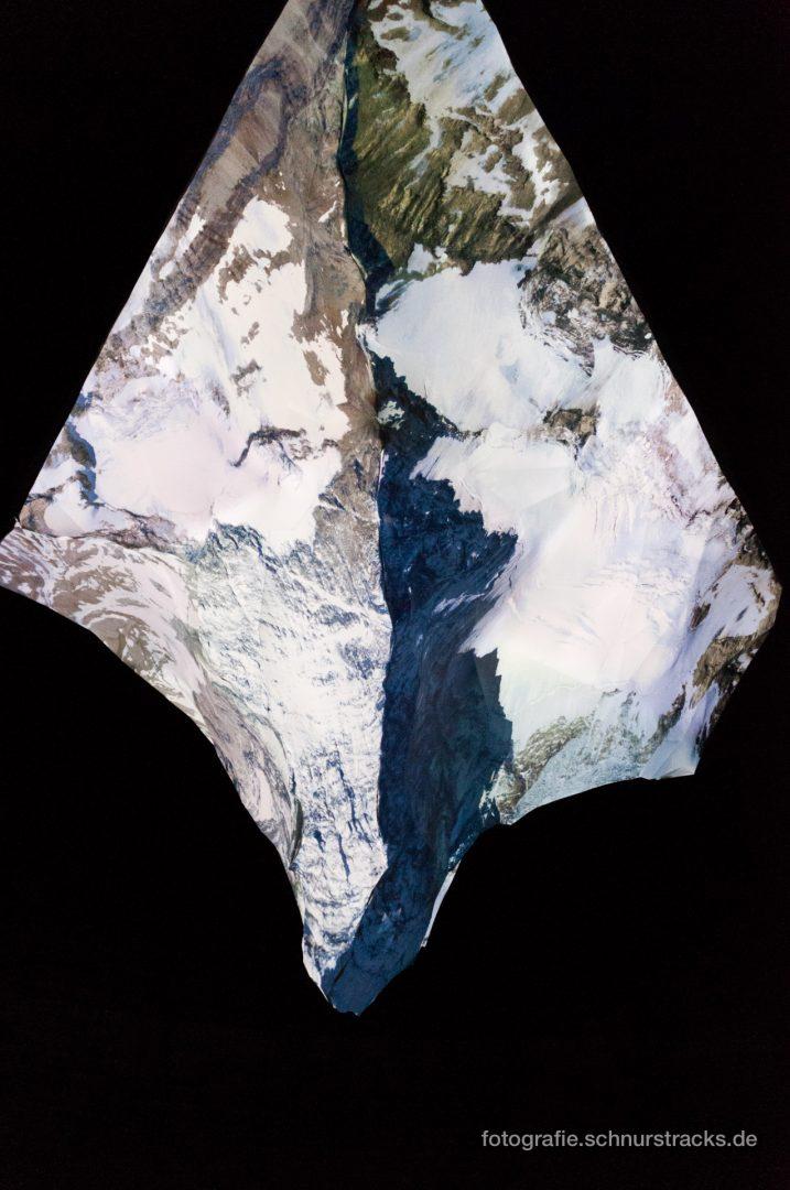 """Projektion auf das Matterhorn-Modell im Gasometer """"Der Berg ruft"""" #1005"""