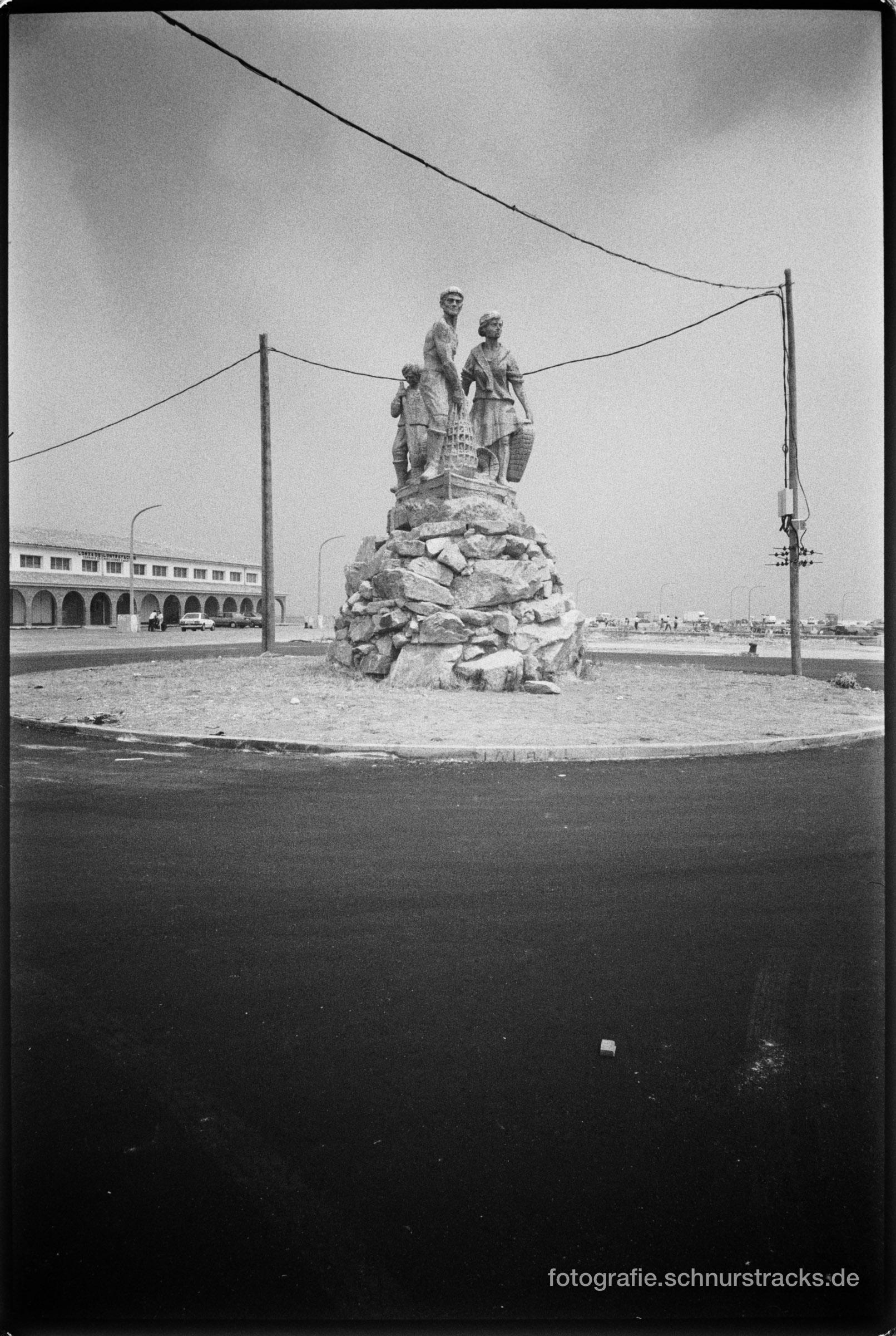 Galizisches Fischerdenkmal im Kreisverkehr