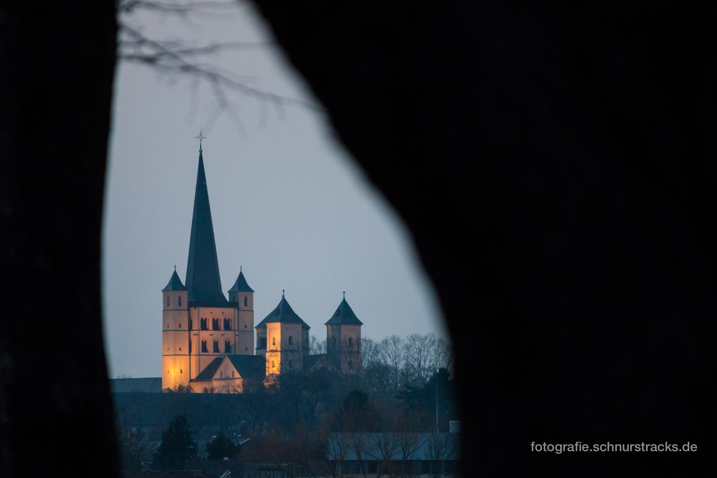 Abtei Brauweiler, Südwestseite am Abend #1397