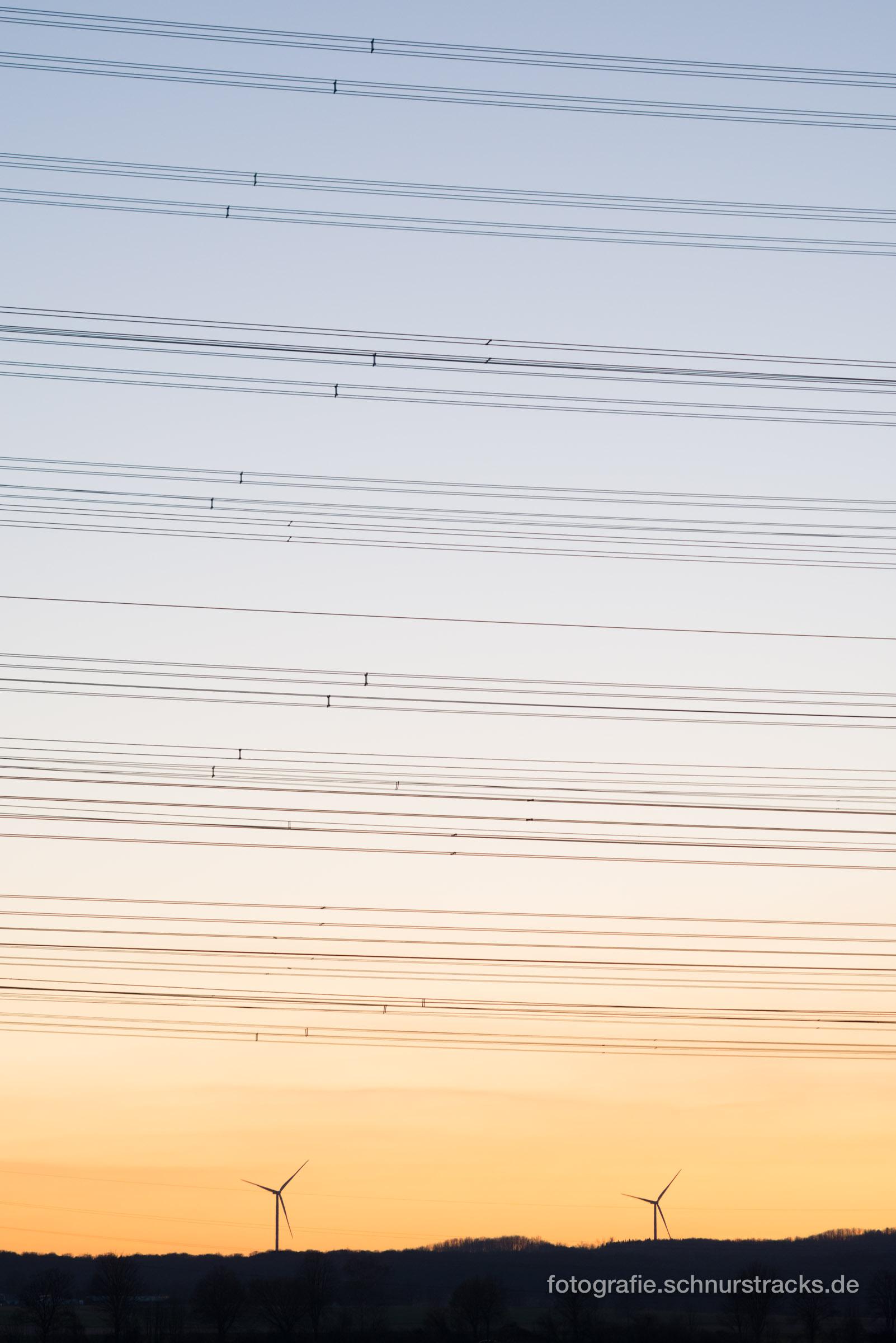 Übertragungsnetz und Windstromerzeugung