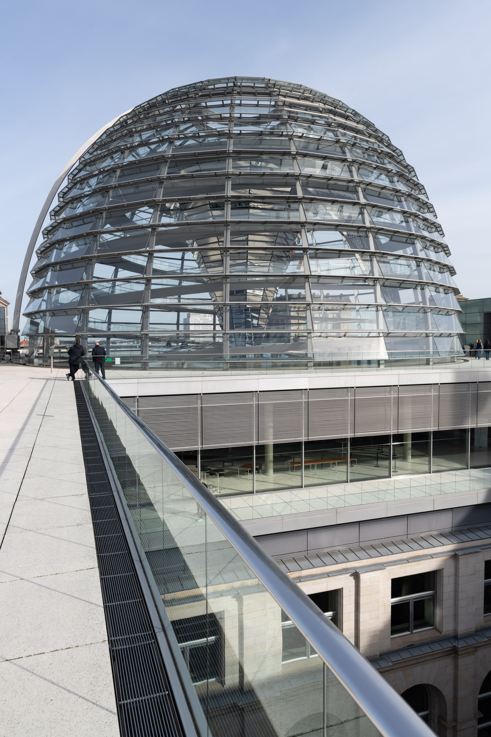 Reichstagskuppel auf der Dachterasse