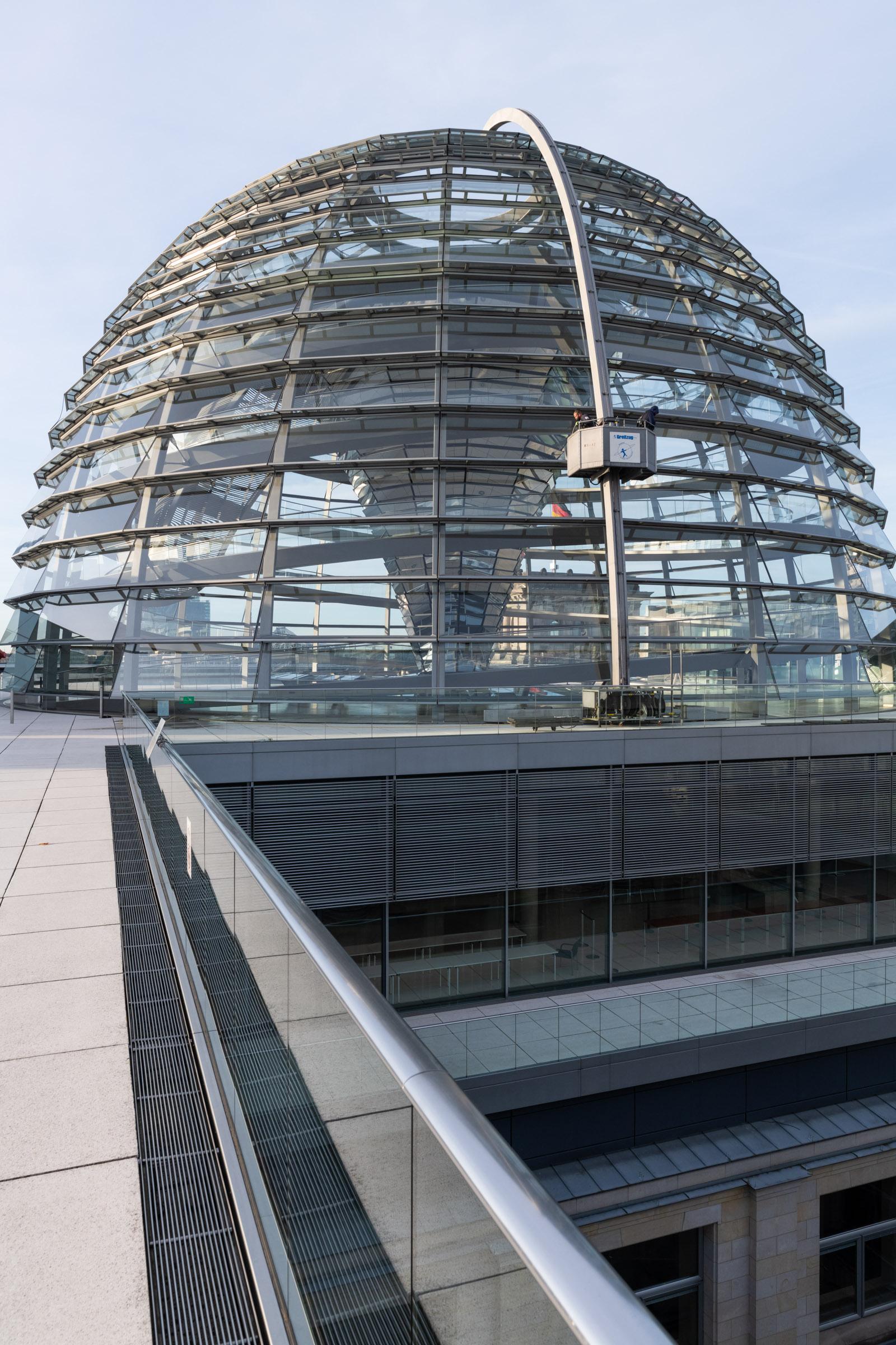 Putzkorb Reichstagskuppel