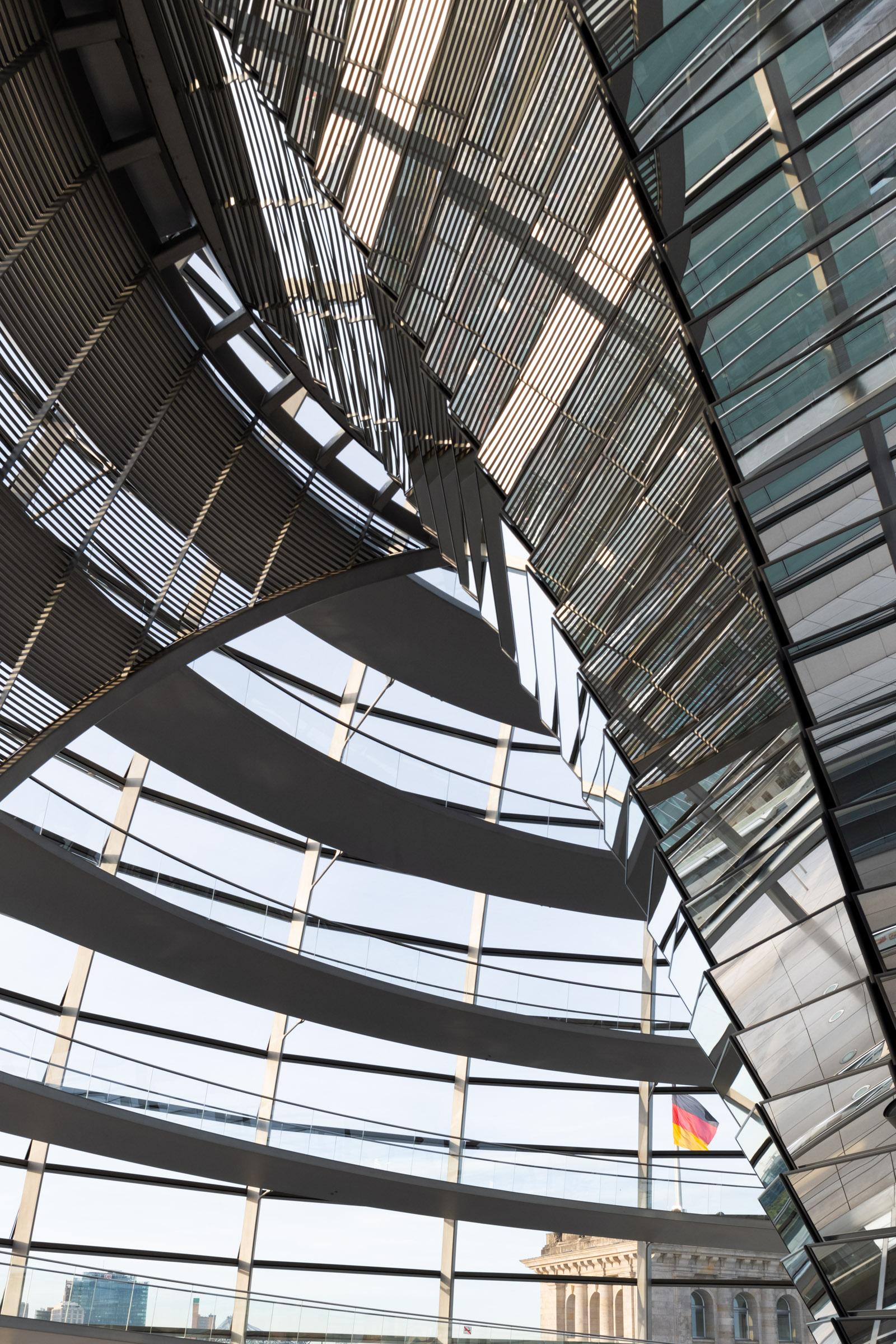 Rampe in der Reichstagskuppel