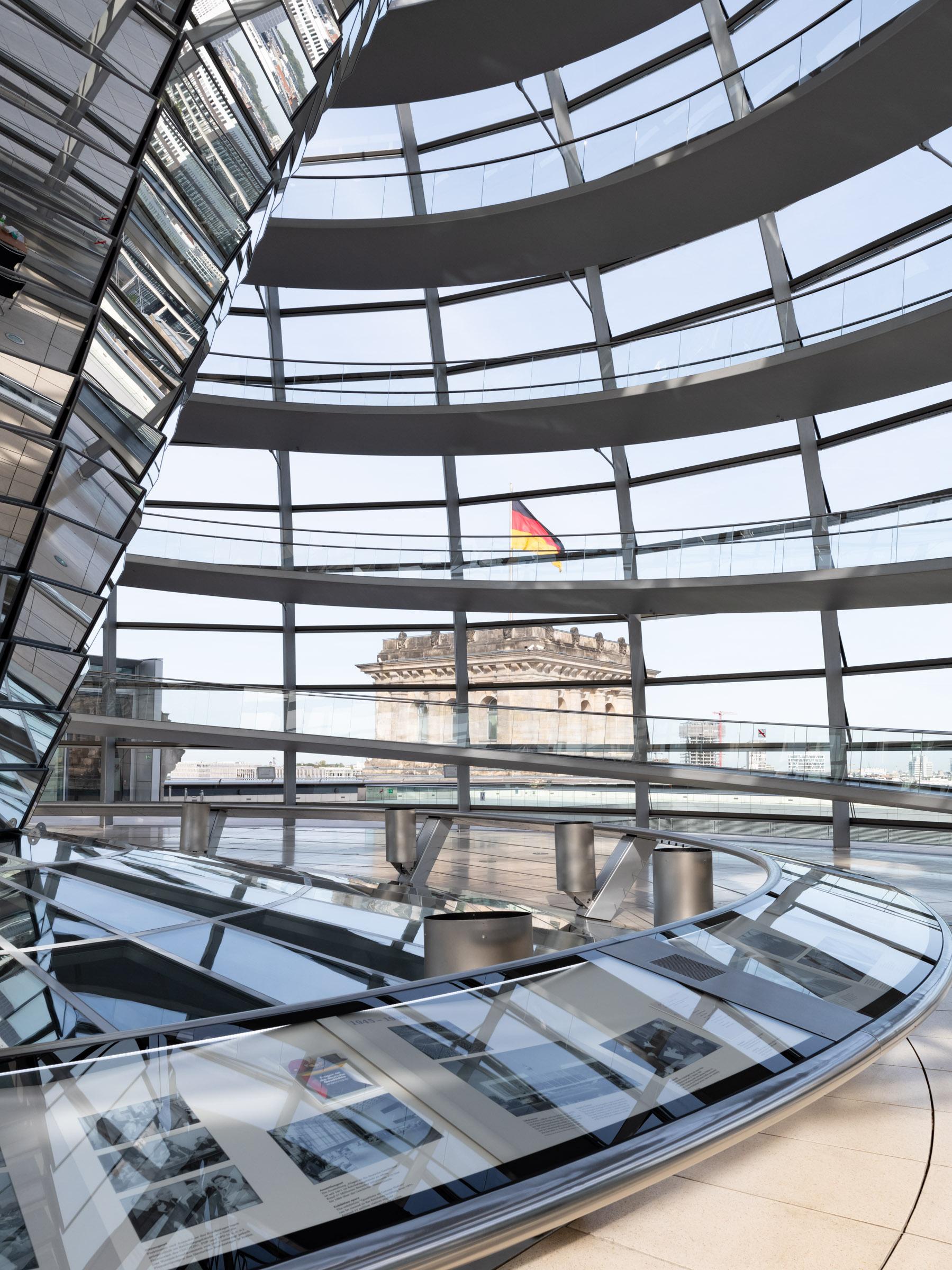 Reichstagskuppel Stahlkonstruktion