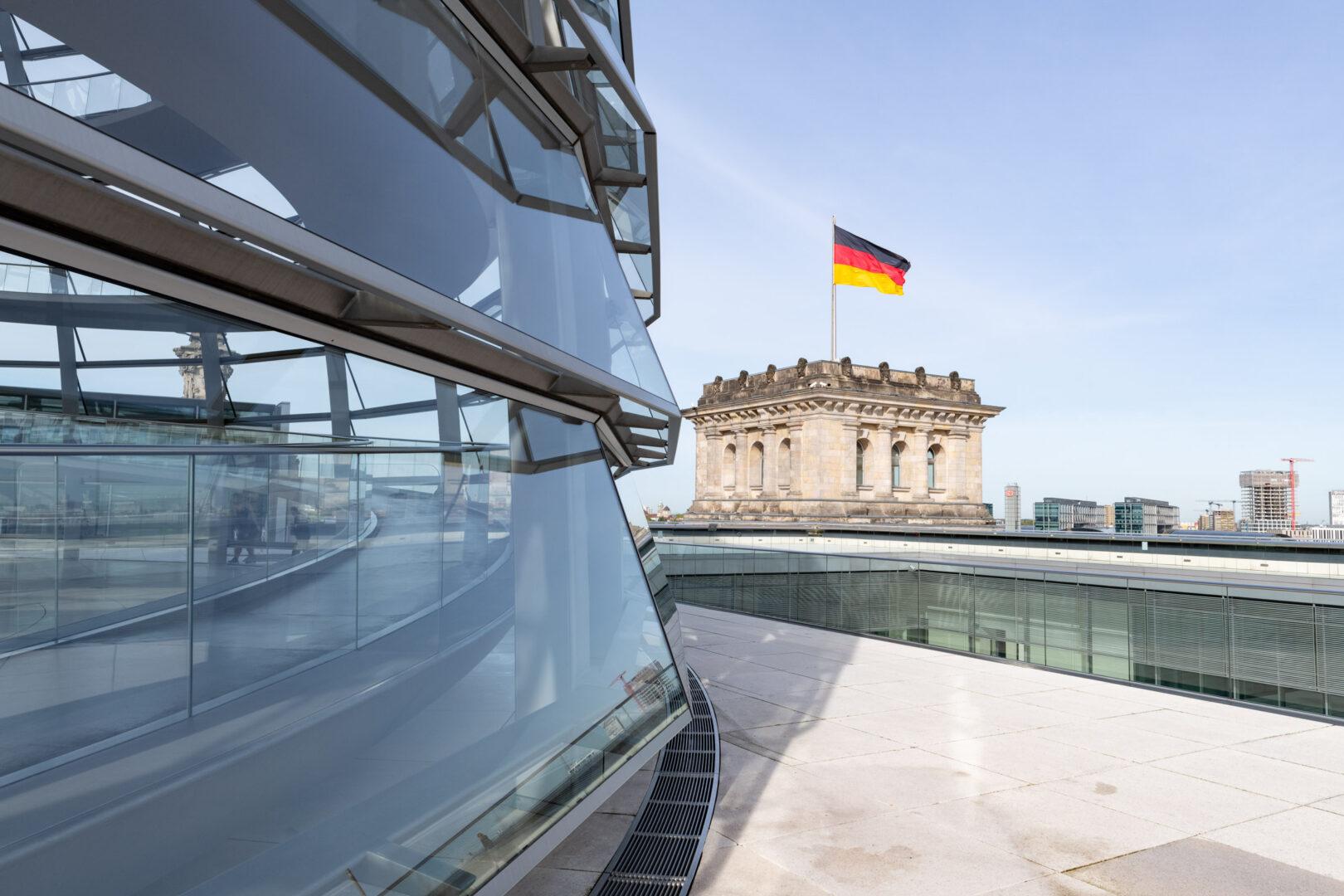 Glaselement der Reichstagskuppel